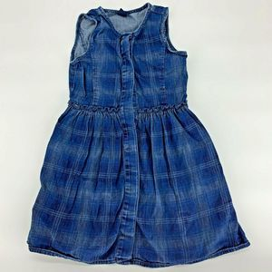 Gap Kids Blue Plaid Dress Sz S